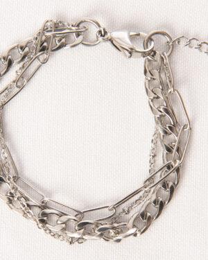 zilveren driedubbele armband madhura bags