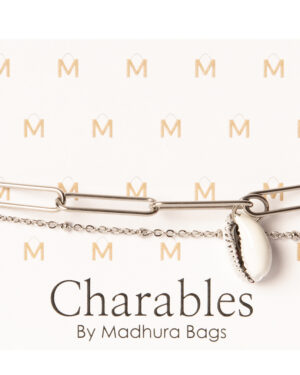 schakel armband zilver schelpkauri wit
