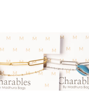 charables schakel armband kauri blauw