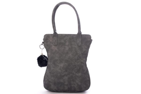 grijze dames handtas met tassenhanger madhura bags