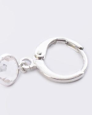 creool crystal glas rond zilver madhura bags
