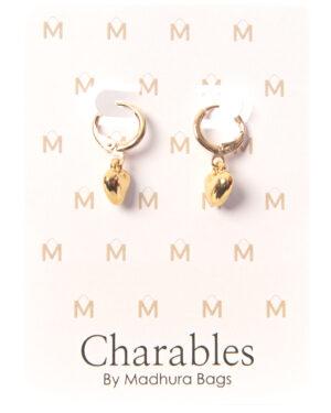 creool meyt gouden hartje charables oorbellen