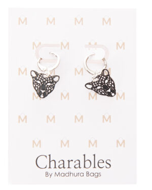 oorbeellen charables madhura bags bohemian leopard zilver