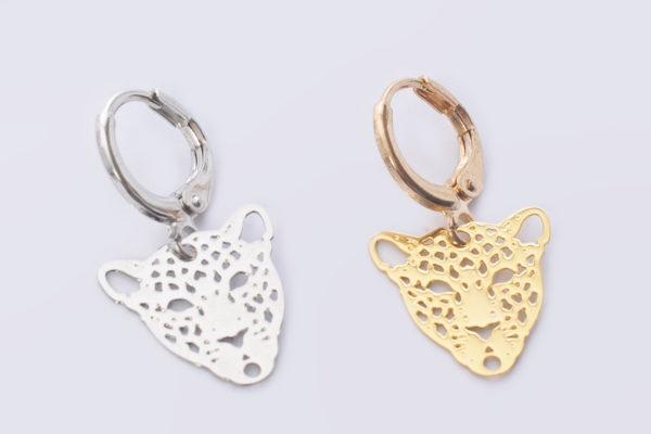 creool luipaard goud en zilver oorbellen madhrua Bags