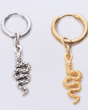 oorbellen creool bedel slang Dq goud en zilver madhura bags