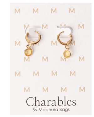 oorbellen ronde steentjes goud madhura bags