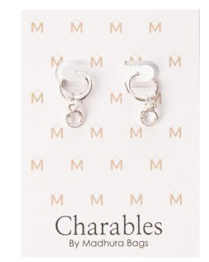 oorbellen met rond steentje zilver charables collection