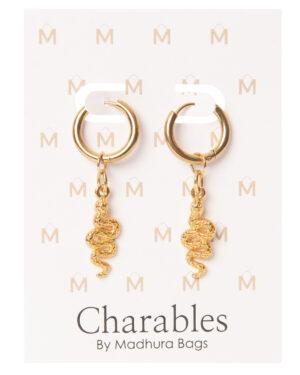 creool oorbellen slangen goud charables