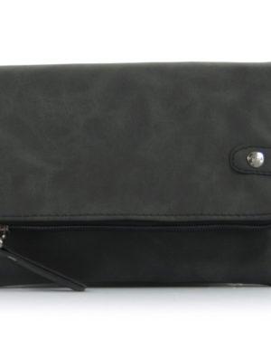 uitvouwbare zwarte heup/schoudertas bora
