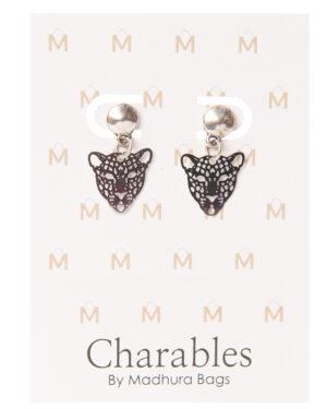 earpin charables leopard zilver