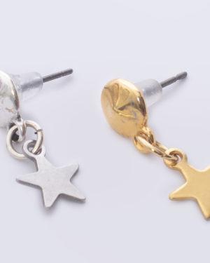 earpin ster zilver 925 sterling in goud en zilver madhura bags