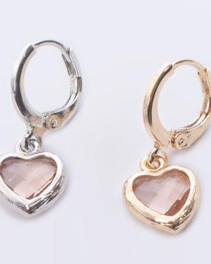 hart pink vintage aan creool goud en zilver madhura bags