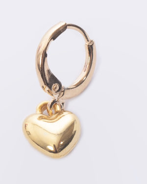 creool gouden hart DQ madhura bags oorbel