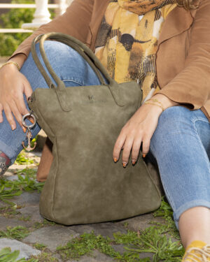 groene shopper curvy classic madhura bags