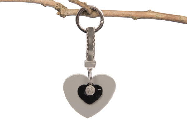 luxe tassenhanger grijs hartvorm madhura bags