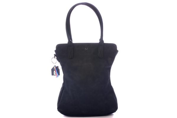 zwarte shopper met tashanger madhura bags