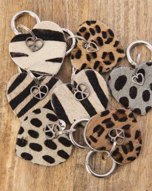 sleutelhangers harten dieren prints madhura bags