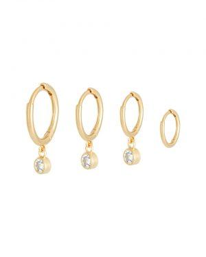 oorbellen met gemstones goud
