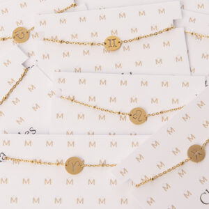 Sterrenbeeld armbandjes goud